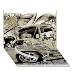 Old Ford Pick Up Truck  Heart Bottom 3d Greeting Card (7x5)  by MichaelMoriartyPhotography