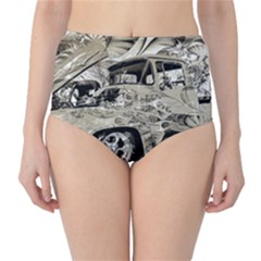 Old Ford Pick Up Truck  High Waist Bikini Bottoms by MichaelMoriartyPhotography
