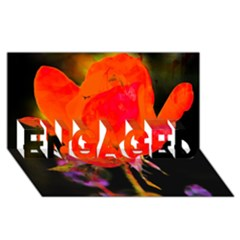 Red Beauty Engaged 3d Greeting Card (8x4)