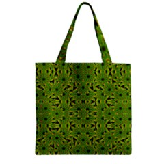 Geometric African Print Zipper Grocery Tote Bag by dflcprints