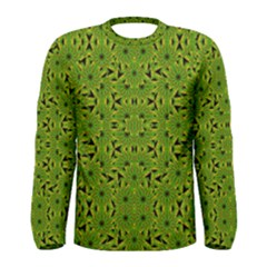 Geometric African Print Men s Long Sleeve Tee by dflcprintsclothing