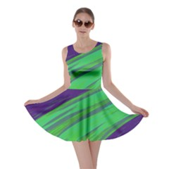 Swish Green Blue Skater Dress by BrightVibesDesign