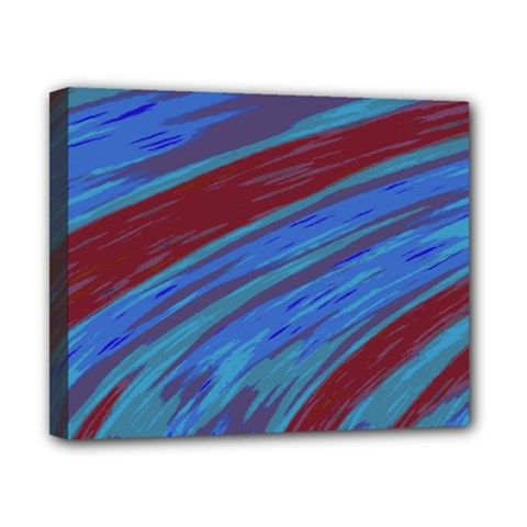 Swish Blue Red Abstract Canvas 10  X 8  by BrightVibesDesign