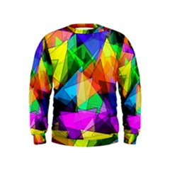 Colorful Triangles                                                                   Kid s Sweatshirt by LalyLauraFLM