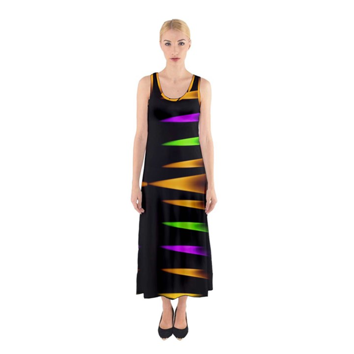Fireworks and calming down Sleeveless Maxi Dress