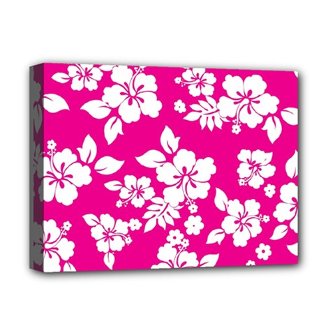 Pink Hawaiian Deluxe Canvas 16  X 12   by AlohaStore