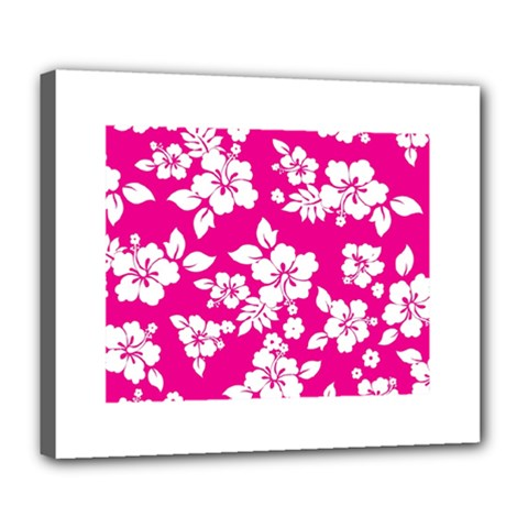 Pink Hawaiian Deluxe Canvas 24  X 20   by AlohaStore