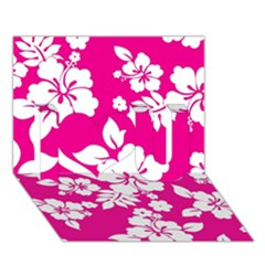 Pink Hawaiian I Love You 3d Greeting Card (7x5)