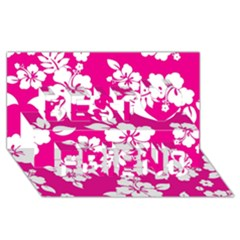 Pink Hawaiian Best Friends 3d Greeting Card (8x4)  by AlohaStore