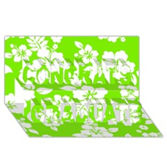 Lime Hawaiian Congrats Graduate 3d Greeting Card (8x4)  by AlohaStore