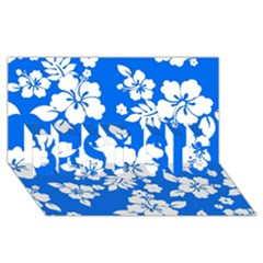 Blue Hawaiian Best Sis 3d Greeting Card (8x4)  by AlohaStore