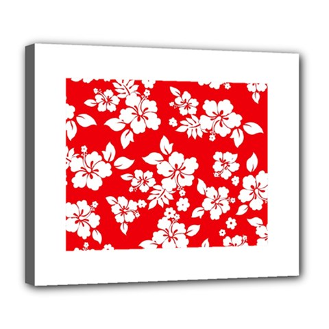 Red Hawaiian Deluxe Canvas 24  X 20   by AlohaStore