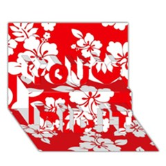 Red Hawaiian You Did It 3d Greeting Card (7x5) by AlohaStore