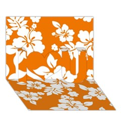 Orange Hawaiian I Love You 3d Greeting Card (7x5)  by AlohaStore