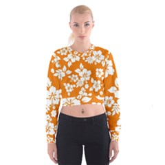 Orange Hawaiian Women s Cropped Sweatshirt
