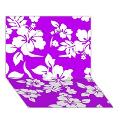 Purple Hawaiian Clover 3d Greeting Card (7x5)  by AlohaStore