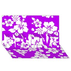 Purple Hawaiian Believe 3d Greeting Card (8x4)  by AlohaStore
