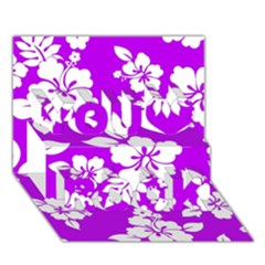 Purple Hawaiian You Rock 3d Greeting Card (7x5)  by AlohaStore