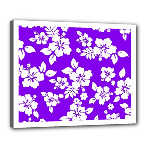 Violet Hawaiian Canvas 20  X 16  by AlohaStore