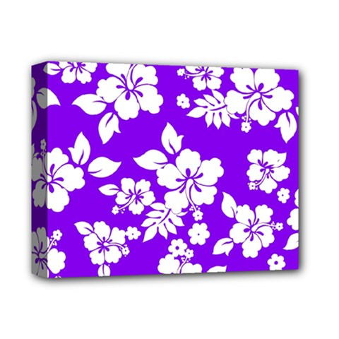 Violet Hawaiian Deluxe Canvas 14  X 11  by AlohaStore