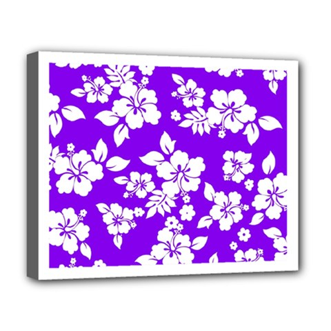 Violet Hawaiian Deluxe Canvas 20  X 16   by AlohaStore