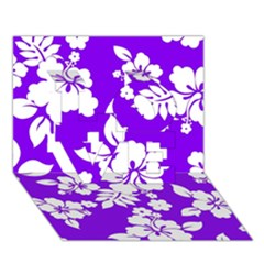 Violet Hawaiian Love 3d Greeting Card (7x5)  by AlohaStore