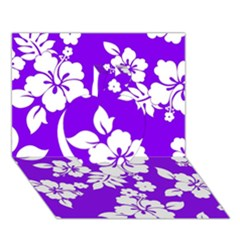 Violet Hawaiian Apple 3d Greeting Card (7x5)  by AlohaStore