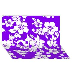 Violet Hawaiian Sorry 3d Greeting Card (8x4)  by AlohaStore