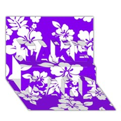 Violet Hawaiian Take Care 3d Greeting Card (7x5)  by AlohaStore