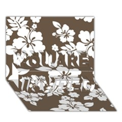 Sepia Hawaiian You Are Invited 3d Greeting Card (7x5)  by AlohaStore