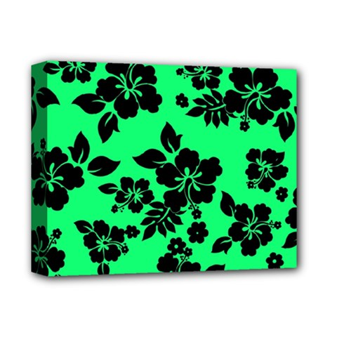 Dark Lime Hawaiian Deluxe Canvas 14  X 11  by AlohaStore