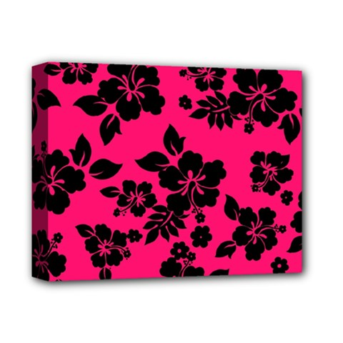 Dark Pink Hawaiian Deluxe Canvas 14  X 11  by AlohaStore