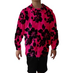Dark Pink Hawaiian Hooded Wind Breaker (kids) by AlohaStore