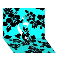Blue Dark Hawaiian Ribbon 3d Greeting Card (7x5)  by AlohaStore