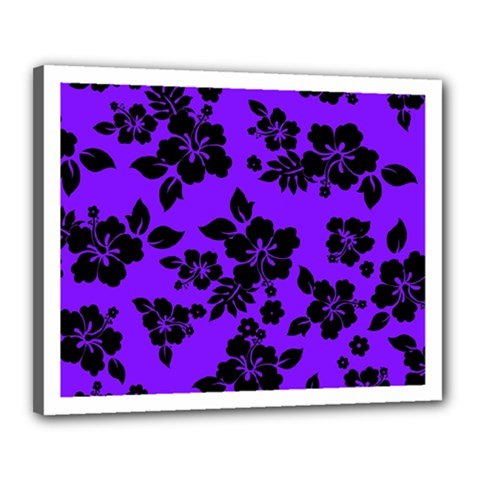 Violet Dark Hawaiian Canvas 20  X 16  by AlohaStore