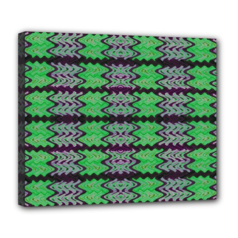 Pattern Tile Green Purple Deluxe Canvas 24  X 20   by BrightVibesDesign