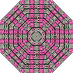Pattern Tile Pink Green White Straight Umbrellas by BrightVibesDesign