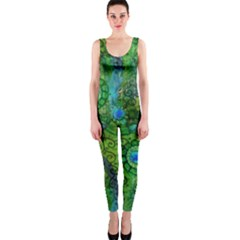 Emerald Boho Abstract Onepiece Catsuit by KirstenStar