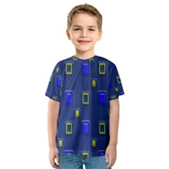 3d Rectangles                                                                      Kid s Sport Mesh Tee by LalyLauraFLM