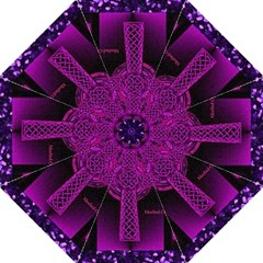 Purple Celtic Cross Hook Handle Umbrellas (large) by morbidcouture