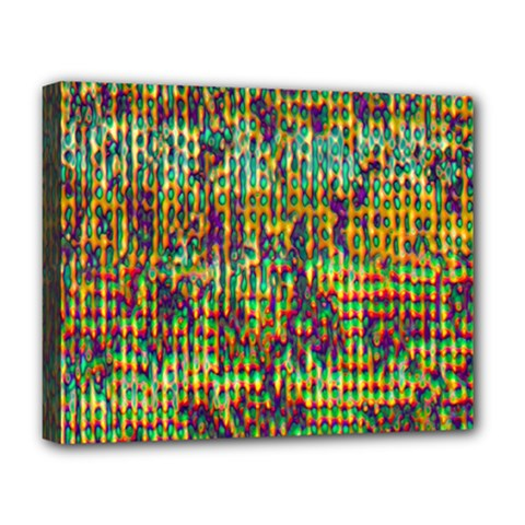 Multicolored Digital Grunge Print Deluxe Canvas 20  X 16   by dflcprints