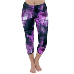 Celestial Purple  Capri Winter Leggings  by KirstenStar