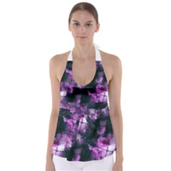 Celestial Purple  Babydoll Tankini Top by KirstenStar