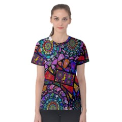 Fractal Stained Glass Women s Cotton Tee by WolfepawFractals