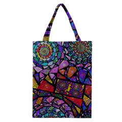 Fractal Stained Glass Classic Tote Bag by WolfepawFractals