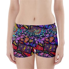 Fractal Stained Glass Boyleg Bikini Wrap Bottoms
