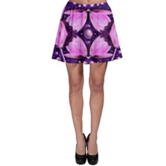 Magic Lotus In A Landscape Temple Of Love And Sun Skater Skirt by pepitasart