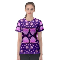 Magic Lotus In A Landscape Temple Of Love And Sun Women s Sport Mesh Tee