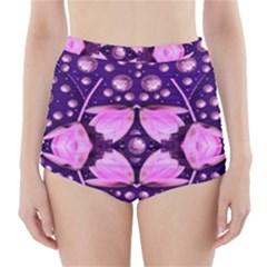 Magic Lotus In A Landscape Temple Of Love And Sun High-waisted Bikini Bottoms by pepitasart