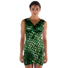 Dragon Scales Wrap Front Bodycon Dress by KirstenStar